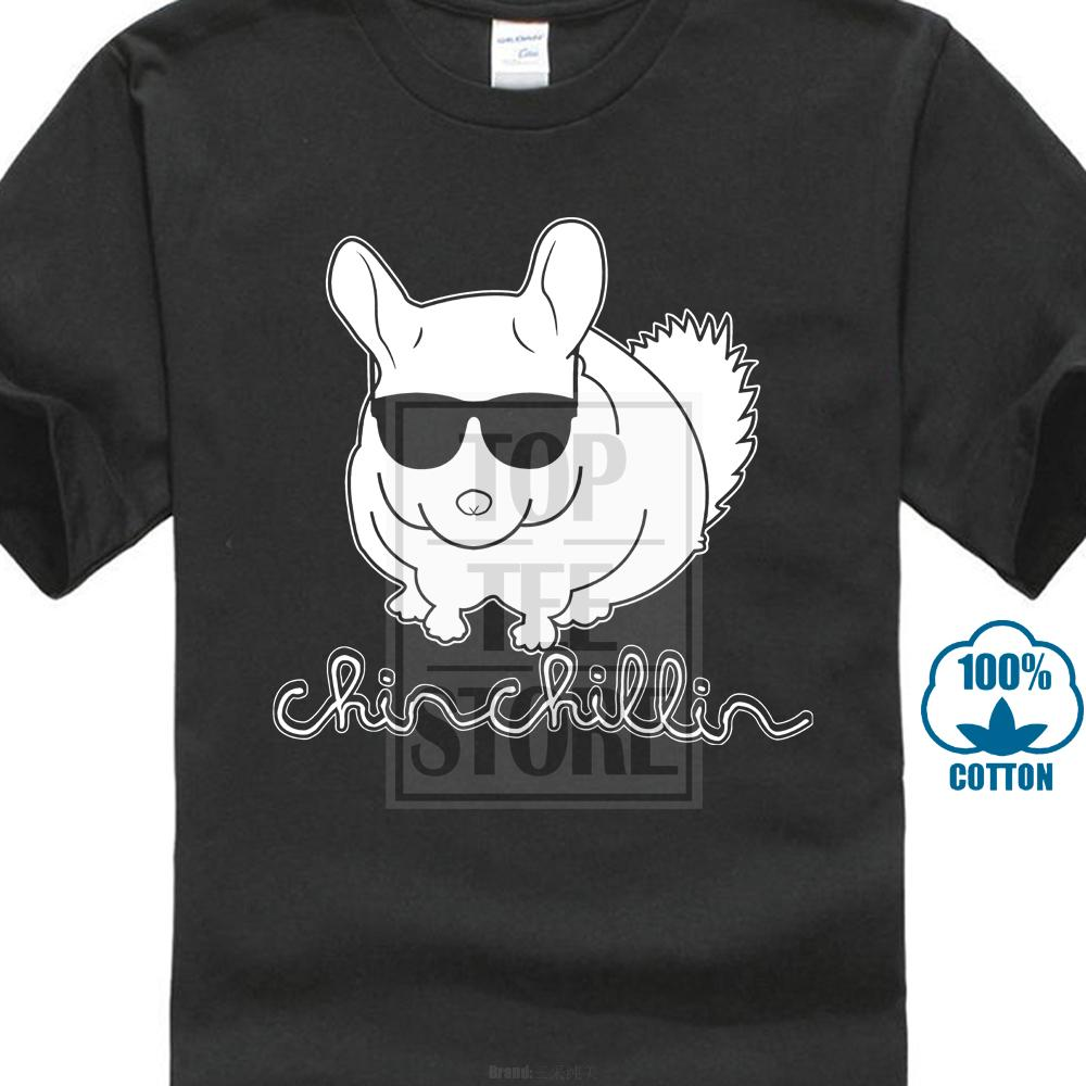 Chinchillin Chinchilla Sunglasses Chill Funny Mens T Shirt