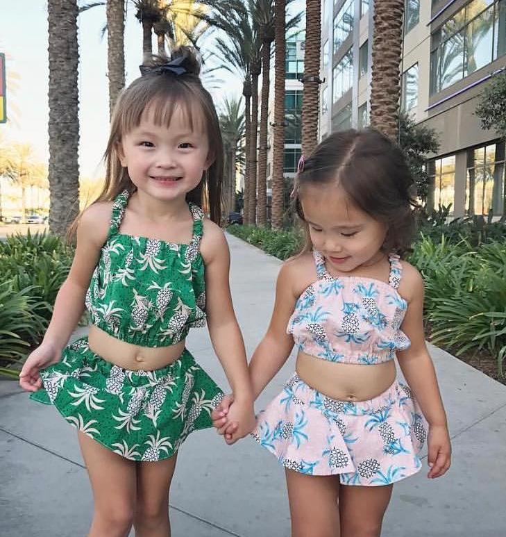 89c911315c8da Fashion 2Pcs Toddler Kids Baby Girls Outfits Pineapple Print Tops+Short  Pants Clothes Set Baby Girl Clothes Suits