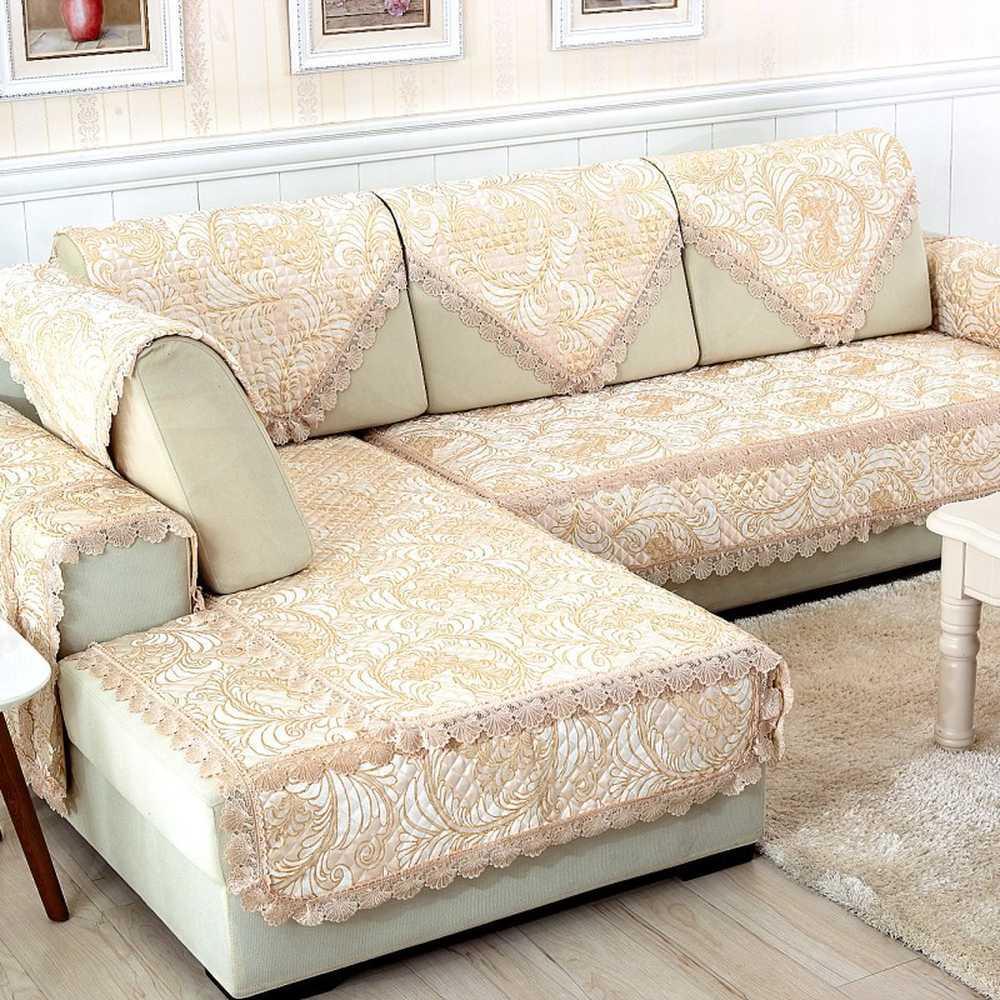 Thick Non Slip Fabric Sofa Cushion