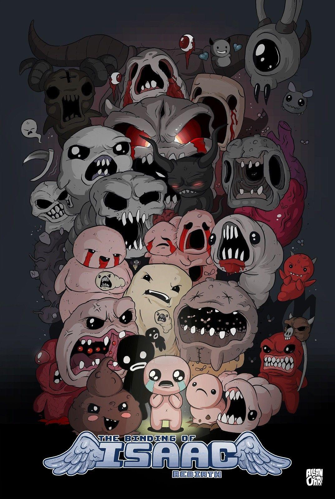 b7147a27fec6 The Binding Of Isaac Video Game Decor Art Silk Print Poster 24x36inch  24x43inch Wall Decals And Stickers Wall Decals Art From Wangzhi hao8