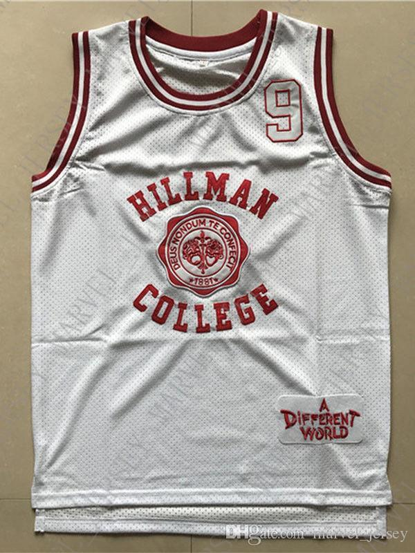 78da87d23950 2019 Cheap Wholesale A Different World Dwayne Wayne Jersye 9 Hillman  College Sewn Customize Any Name Number MEN WOMEN YOUTH Basketball Jersey  From ...