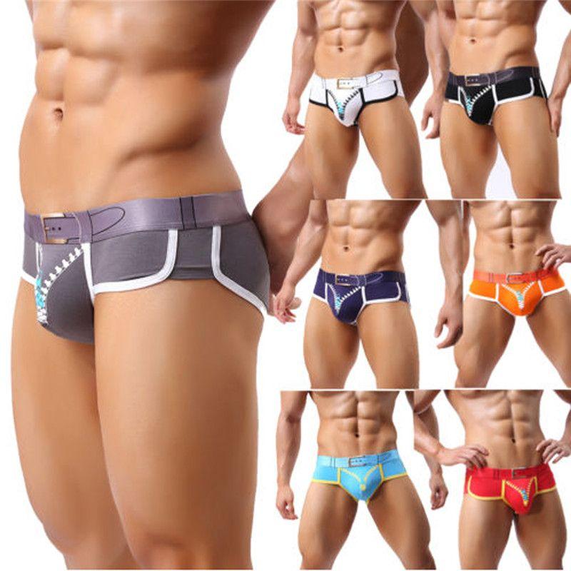 3a07674502 2019 new New Men's Swimwear Low Rise Sexy Pouch Men Swimming Briefs Board  Shorts Swimsuit Men Triangular Surf Swim Trunks