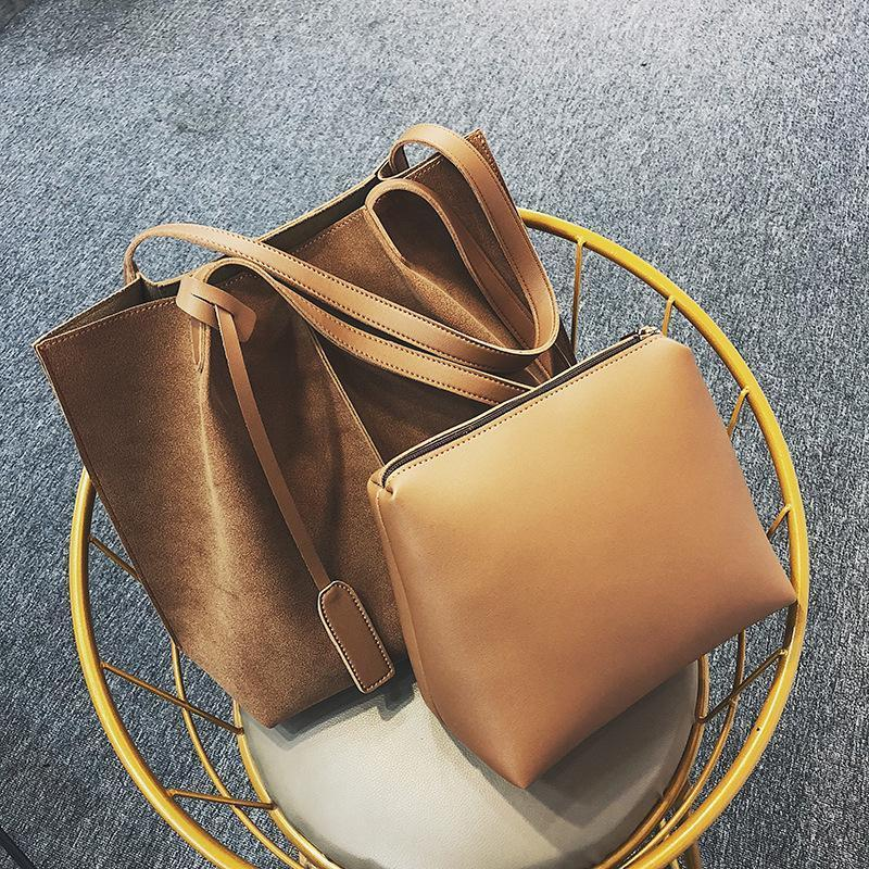 e8b74a2cce Nice Autumn And Winter Fashion Pop Wild Retro Matte Mother Bag Two Piece  Women s Handbag Shoulder Diagonal Cross Bag Messenger Bags Laptop Bags From  ...
