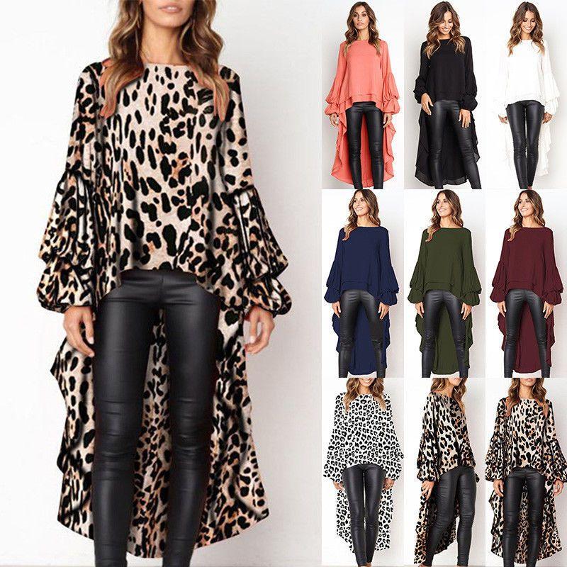 3e3d9615df0 Dresses For Womens Clothes 2019 Womens Leopard Front Short Back Long Shirt  Dress Ladies Autumn Loose Tops Blouse Plus Size Party Dress Buy Dress From  ...