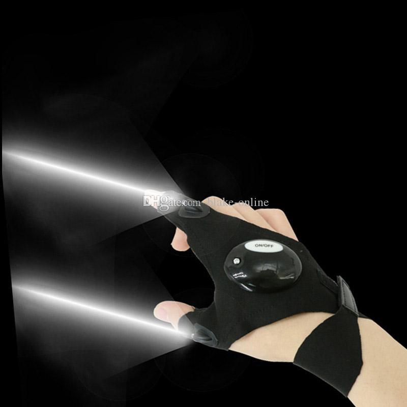 أطقم إصلاح السيارات أدى قفازات الاصبع أدوات ليلة السيارات دراجة نارية العمل في الهواء الطلق الصيد بقاء أداة الإبداعية المشي لمسافات طويلة قفاز الإضاءة