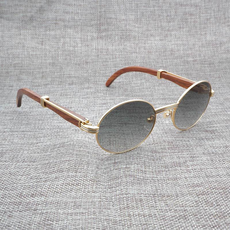 93bfae07e7 Compre Gafas De Sol De Cuerno De Búfalo Naturales Para Hombres Gafas De  Madera De Lectura Redondas Gafas De Madera Transparentes Para Conducir  Retro Oculos ...