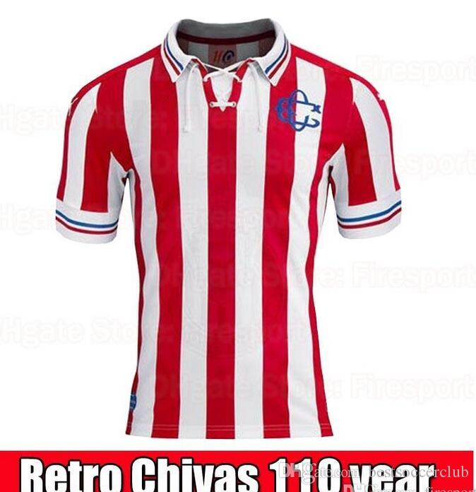 9aeace240 110 Chivas Guadalajara Soccer Jersey Chivas Vintage 110 Rayadas ...