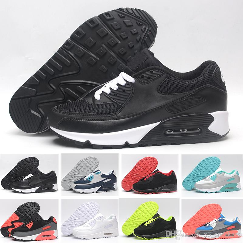 cheap for discount 7d091 405fc Nike Air Max 90 90 95 97 98 270 En gros des hommes et des femmes de qualité  supérieure 90 ultra essentiel coussin Sneaker Original Chaussures Casual ...