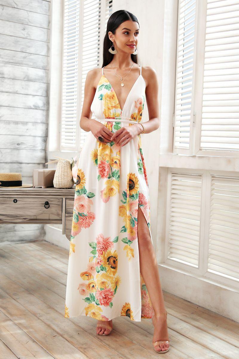 519cb5f47 Compre Vestido Cruzado Con Cuello En V Vestido Largo De Las Mujeres ...