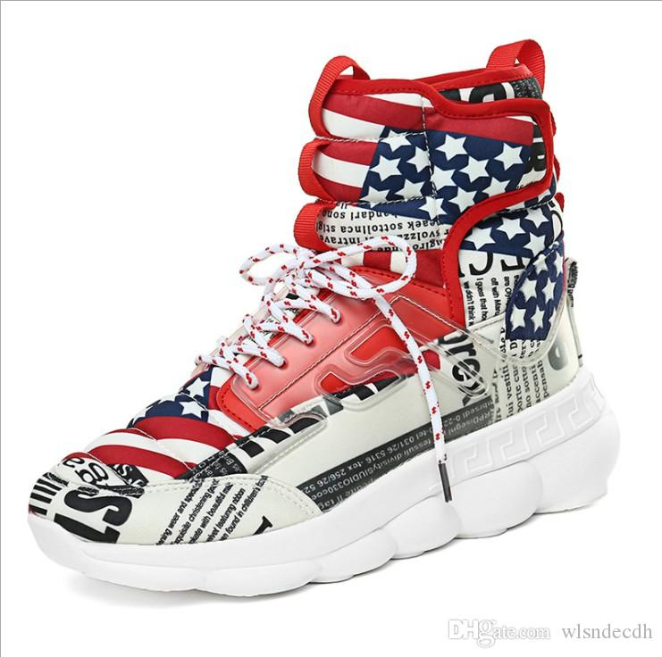 Mens Gym Sport Shoes Autumn Winter Colorful High Top Casual Sneakers