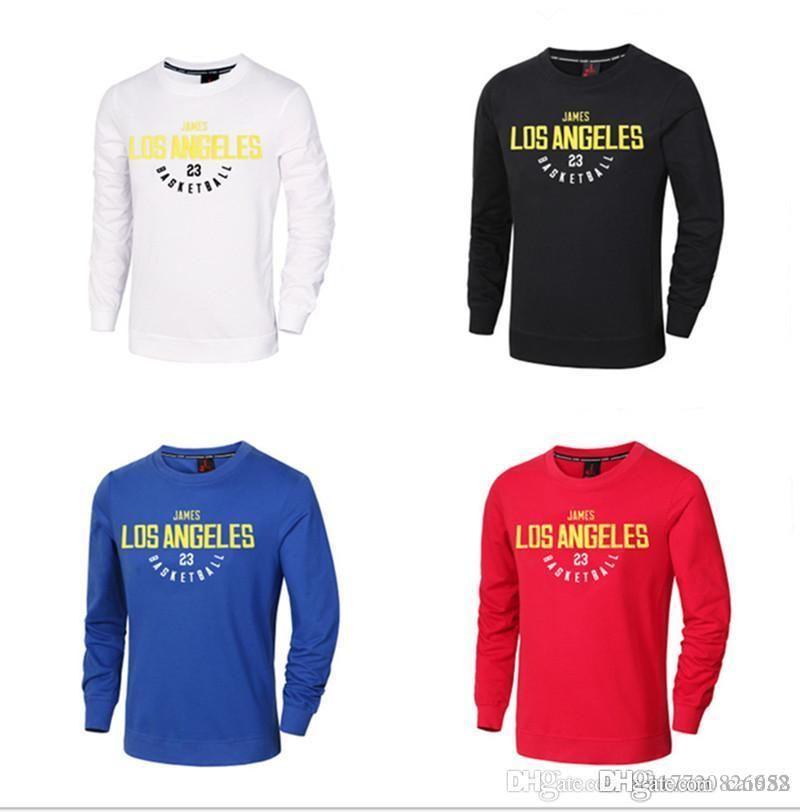 buy popular 936ee b0da1 Running Jerseys 23 lebron james Print Jersey long sleeved Cotton Sweater  Breathable Uniforms Training Running Sports Shirts