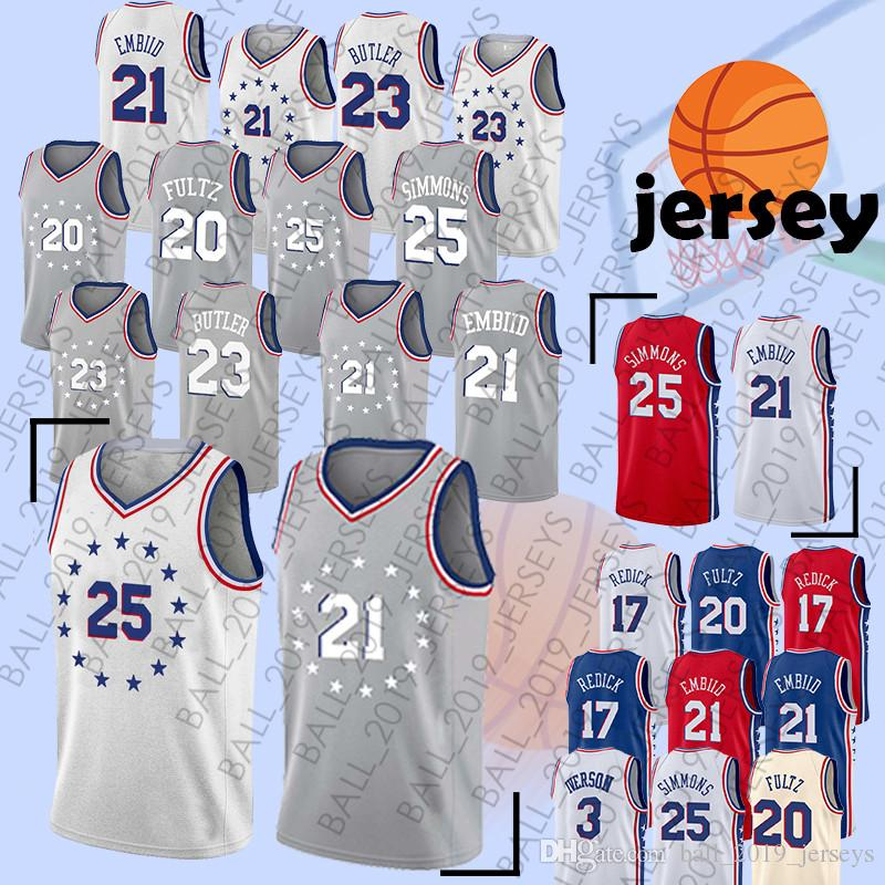bd35c3c729b2 25 Simmons Jersey 21 Embiid 20 Fultz Earned Edition Hot Sale Men ...