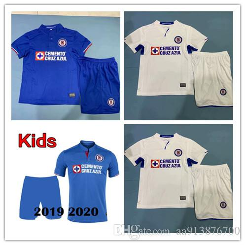 e5fd638153a 2019 Kids 2019 2020 Mexico Club Liga MX CDSC Cruz Azul Soccer Jersey  Children 19 20 Home Blue Away White Football Shirt Camisetas De Futbol From  Aa913876700 ...