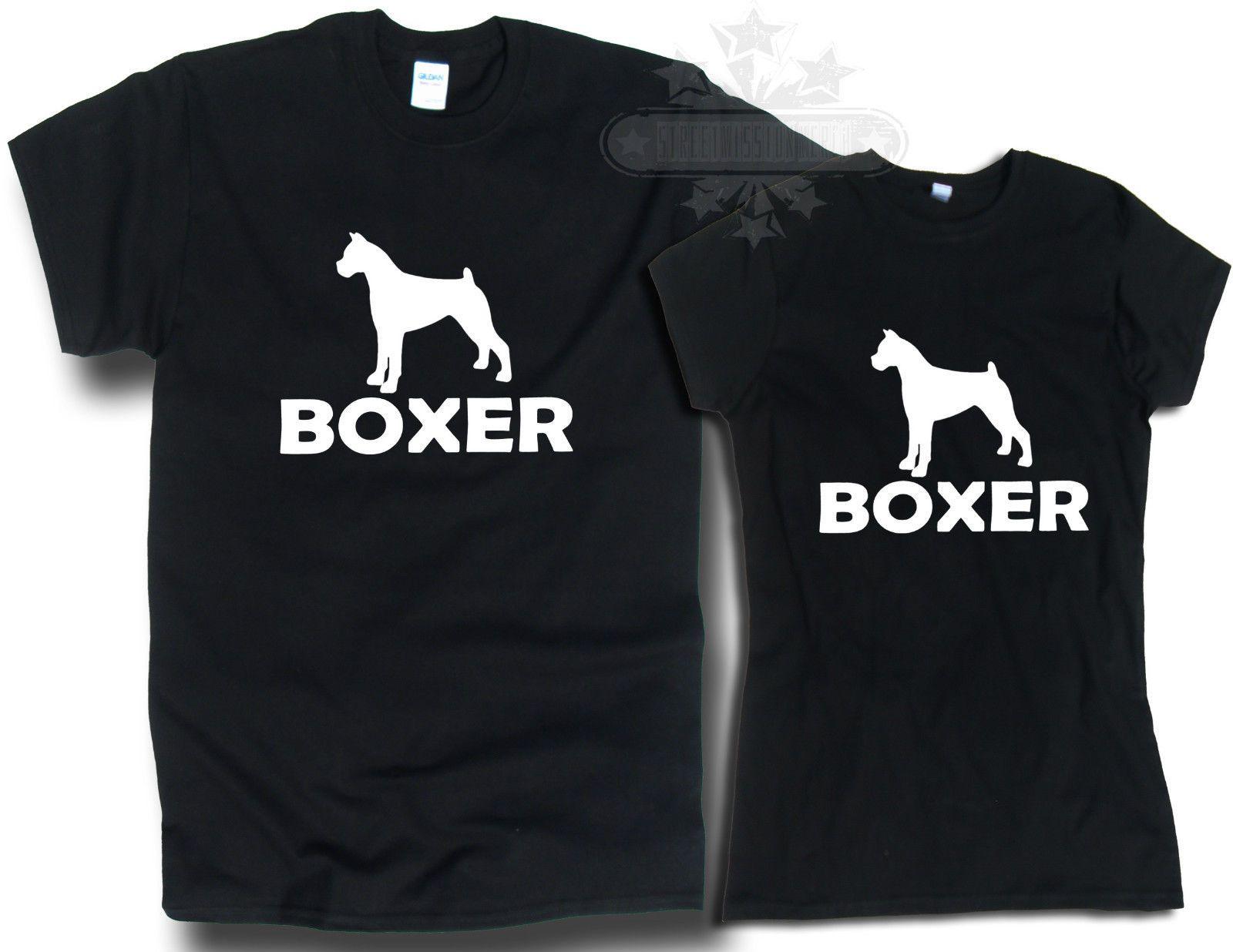 Boxer Dog T Shirt Unisex And Ladie Fit T Shirt Boxer Dog Harajuku