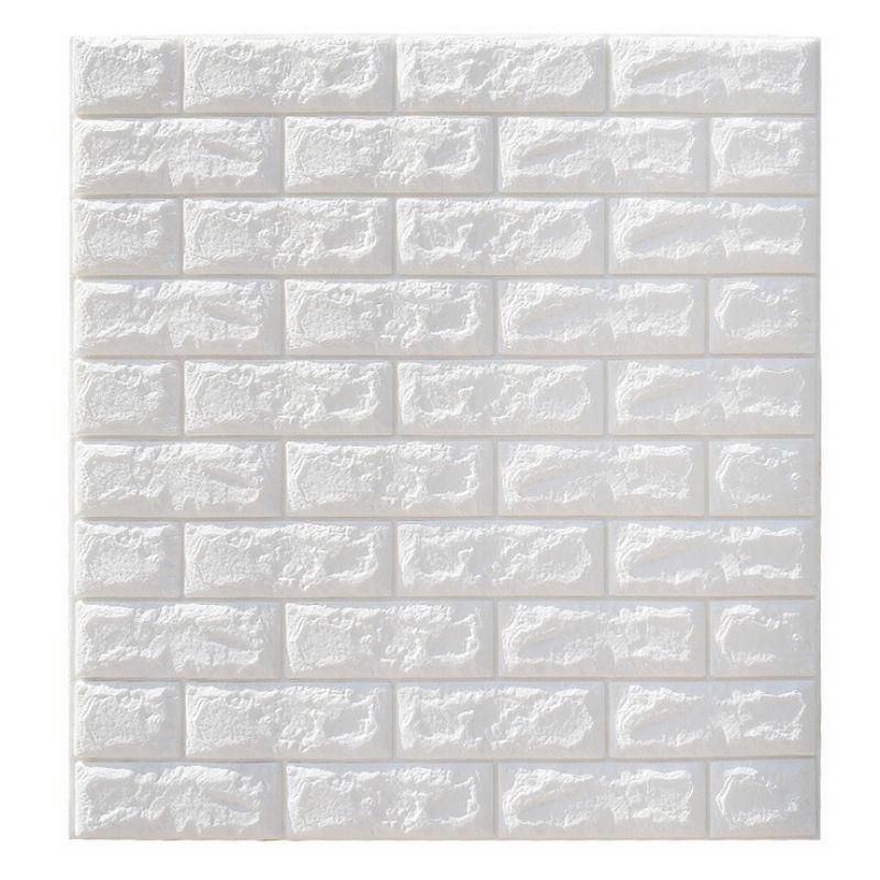 Clearance 6mm Pe Foam 3d Wallpaper DIY Wall Stickers Wall Decor Embossed Brick Stone Wallpaper Room House 70 X 77 Poster
