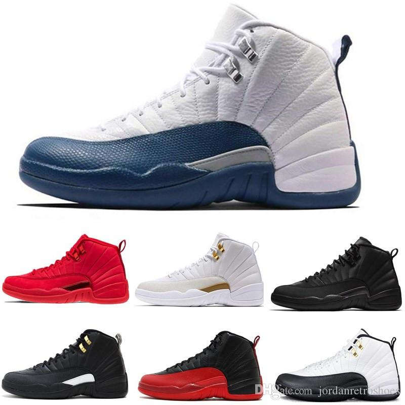 378576ea3bdb5 Best Quality 12s Mens Basketball Shoes 12 OVO Friday Gym Red Michigan Navy  Bulls Taxi French Blue Bred Sneaker Sports Shoes Size 7 13 Jordans Shoes  Sport ...