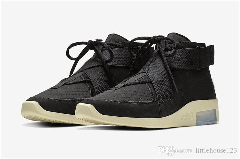 7b796f44 2019 2019 Best Authentic Air Fear Of God 180 Raid Black Light Bone Fossil2  Moccasin Particle Beige White Men Basketball Shoes Sneakers AT8087 002 From  ...