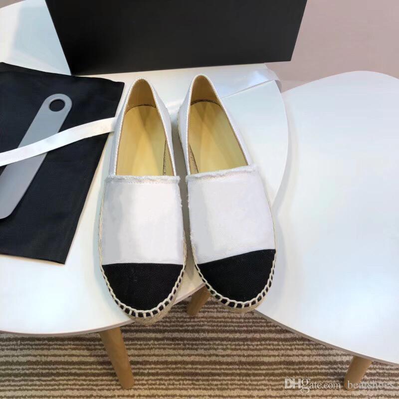 Zapatos de diseño de lujo Mocasines clásicos Alpargatas de cuero Zapatos planos Dos tonos Cap Toe Real Lambskin Summer Multicolor Sandalias de mujer SZ 34-42