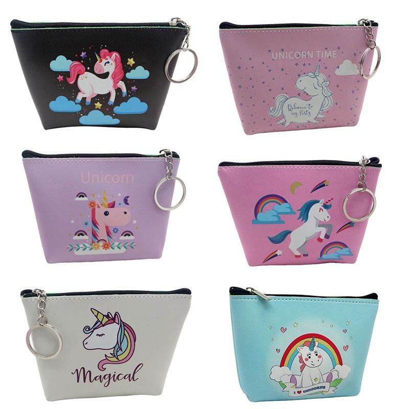 Coin Purses & Holders Cute Cartoon Animal Unicorn Coin Purses Holder Fashion Girl Kids Mini Gift Change Bag Zipper Pouch Child Women Wallets Money