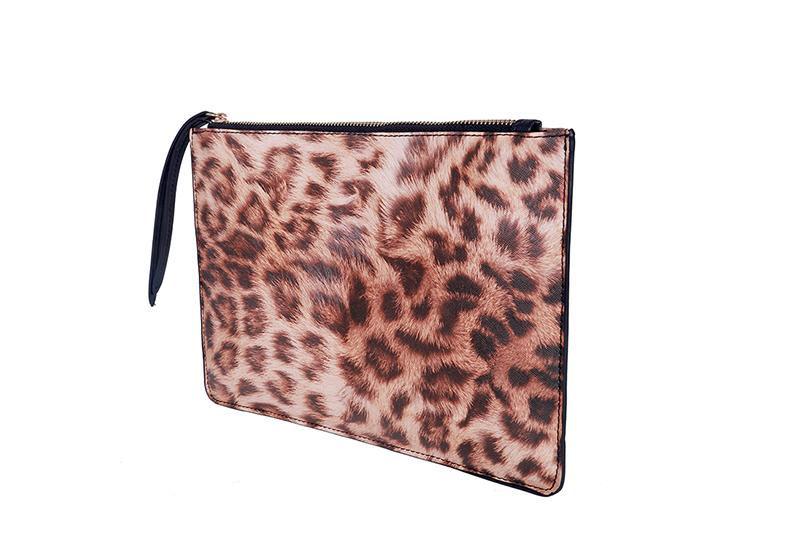 Women's Leopard Print Animal Pattern Handbag Female PU Leather Envelope Handbags Evening Party Bag Ladies Day Clutch Bags