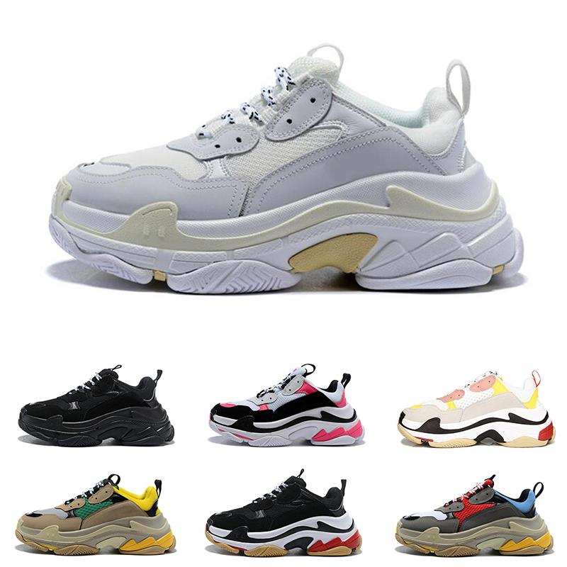 2020 triple s men women fashion luxury designer shoes platform sneakers black bred white red grey mens trainer casual vintage shoe