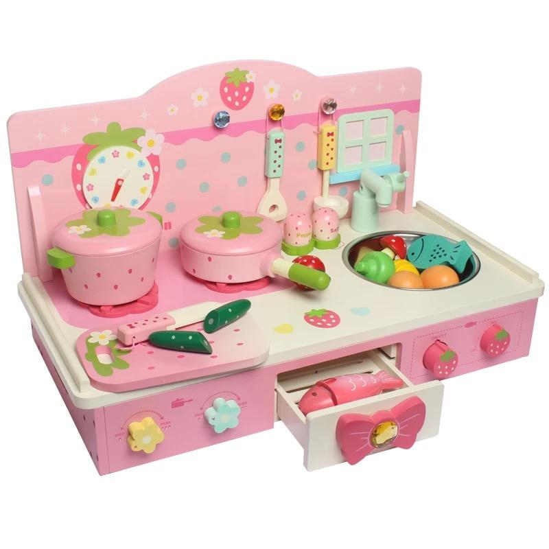2019 ChildrenS Play House Birthday Cake Toy Baby Simulation Kitchen Fruit Cut Music Little Girl Gift Set From Azure6 20101