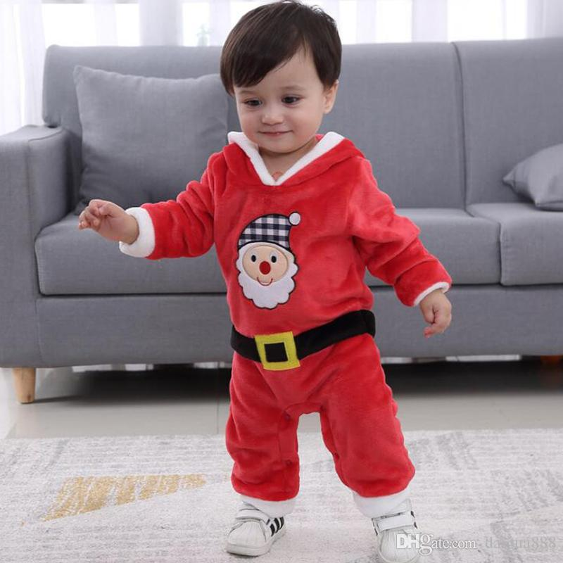 2c2c09f5762e Baby Boy Santa Claus Clothes Christmas Jumpsuits with Hooded Hat Lovely  Jumpsuit DHL Baby Clothes Christmas Online with  13.0 Piece on Daigua888 s  Store ...