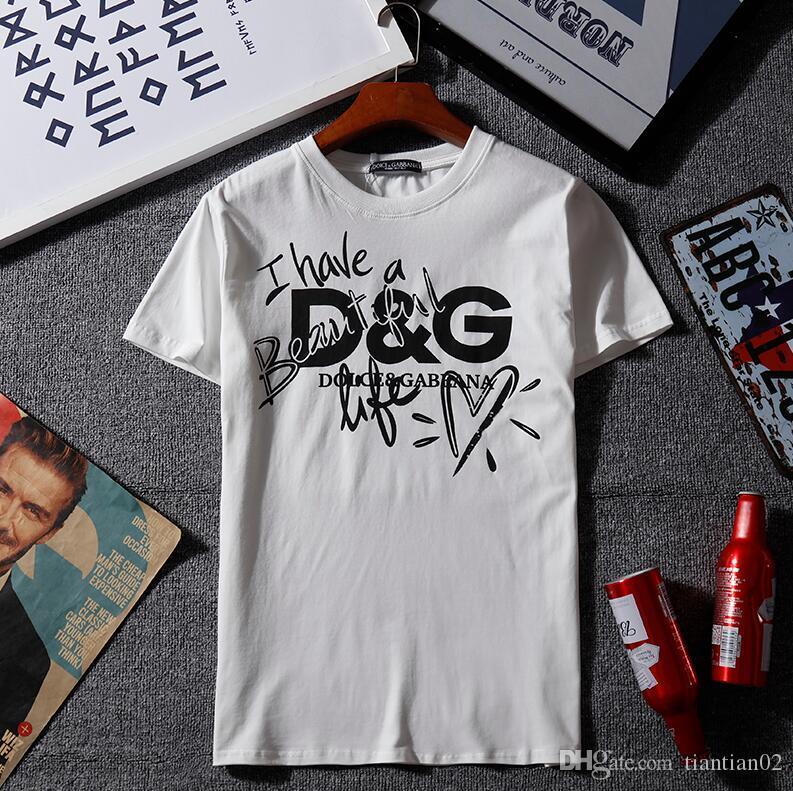 0f1e95c77991dc Acquista Moda Uomo Di Marca Di Lusso T Shirt Da Donna Firmata Streetwear  Top Tees Skateboard Lettera Stampa T Shirt T Shirt Da Uomo In Cotone A  $21.65 Dal ...