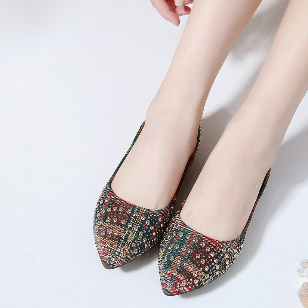 126765d29828 Sagace Shoes Women Shallow Mouth Soft Bottom Crystal Single Shoes Rhinestone  Bohemian Flat Fashion New Shoes Woman 2019feb9 Black Shoes Nude Shoes From  ...