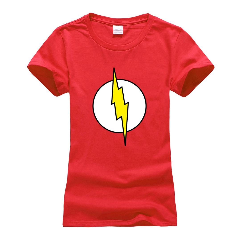 88e9f3d3 Women's Tee Women's Sheldon Cooper Femme Fashion Hip Hop Fitness Brand Clothes  T-shirt Super Hero Flash Cosplay T Shirt 2019 Summer Camiseta