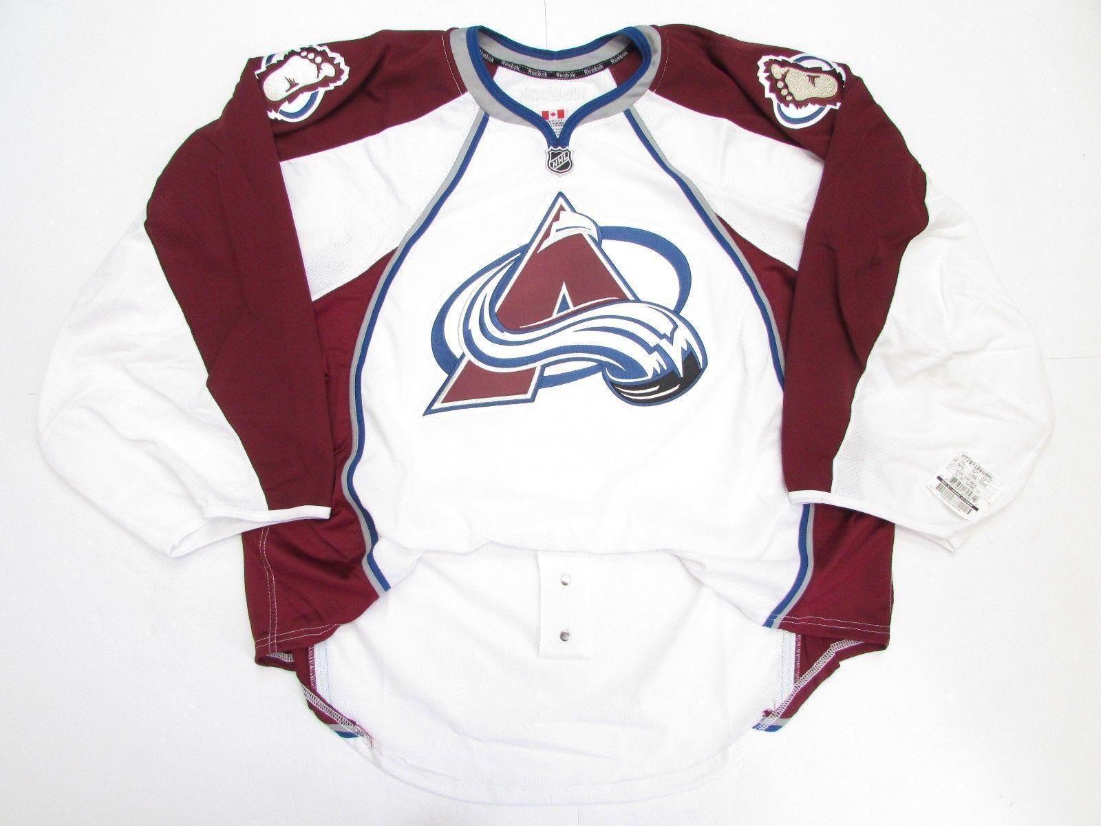pretty nice 6ff4f cb587 Cheap custom COLORADO AVALANCHE AWAY JERSEY GOALIE CUT 60 stitch add any  number any name Mens Hockey Jersey