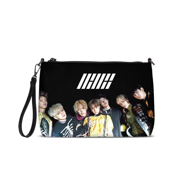 New Fashion Idol Ikon Print Evening Shoulder Bag Day Clutches Lady Purse Women Leather Handbags Casual Messenger Bags Clutch Bag