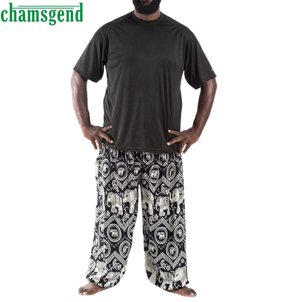 CHAMSGEND Yoga Pants Baggy Plus Size Men Yoga Trousers Boho Jumpsuit Thai Pants Hippy Sport Running Fitness Gym Leggins 09