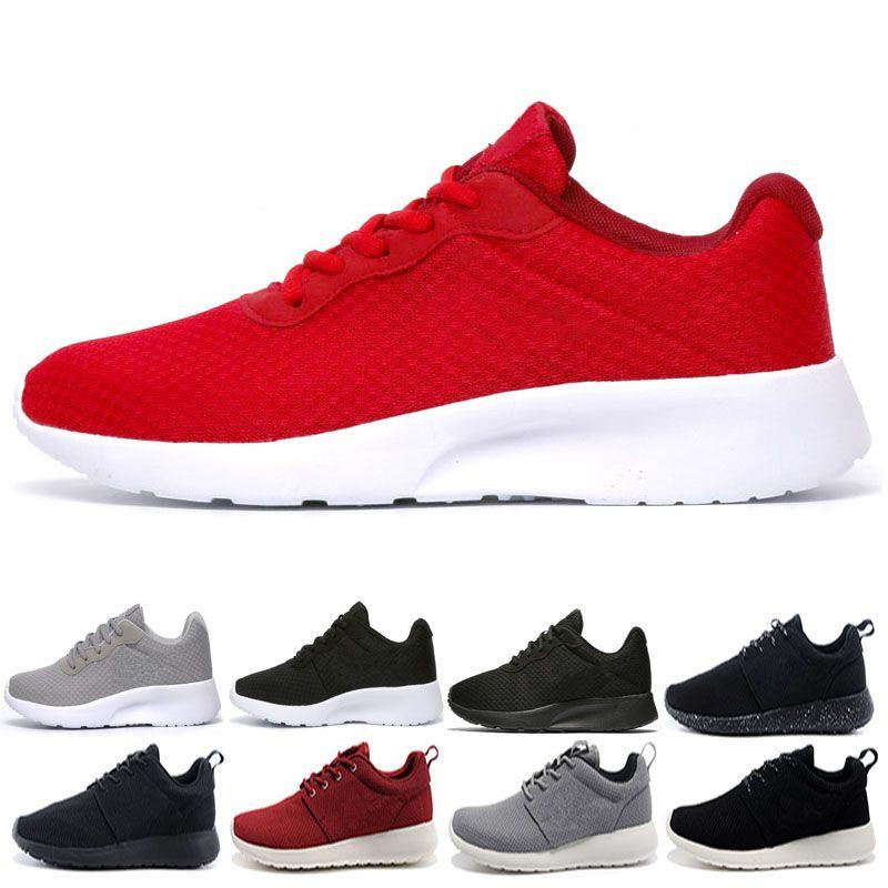 8c1c015fb Compre Sapatos De Corrida Por Atacado Tanjun Triplo Preto Branco Mens  Womens Running Shoes Londres Olympic Runs Homem Formadores Esportivos  Executar ...