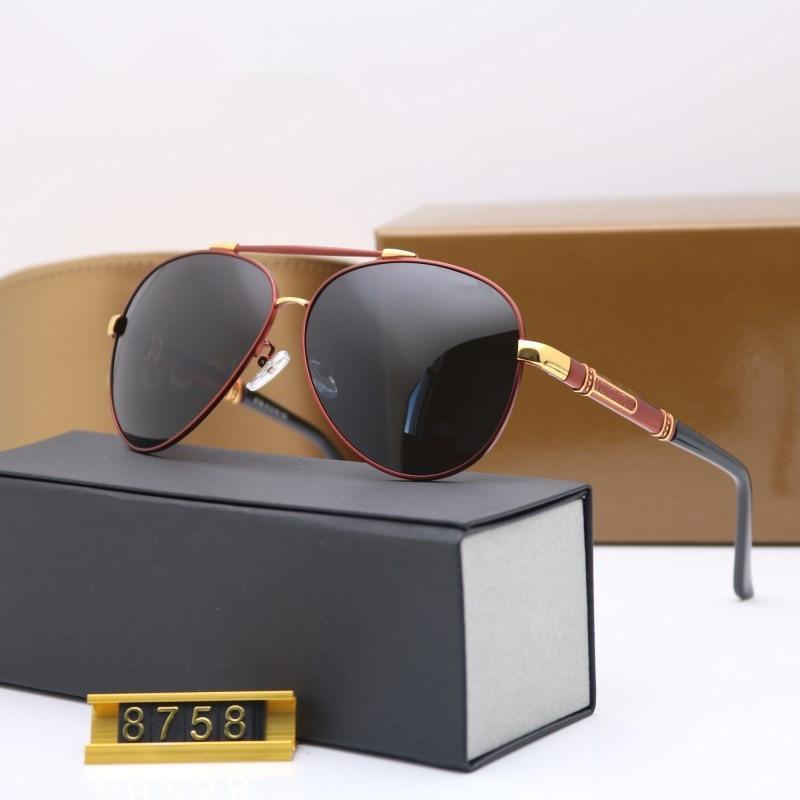 ad9155d032464 Compre Novos Óculos De Sol De Alta Qualidade Da Marca Designer De Moda 8758  Óculos De Sol Dos Homens Das Mulheres De Sol Com Caixa Original De Lhxm
