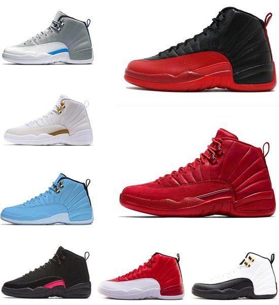 a0042000192 New Gym Red Michigan 12 OVO Bordeaux Dark Grey Wool Men Basketball ...