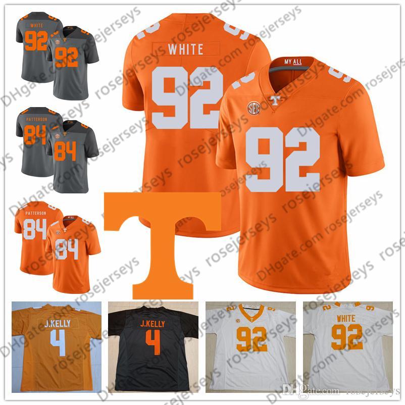 online store 2bbc7 7096b NCAA Tennessee Volunteers #4 John Kelly 27 Arian Foster 84 Cordarrelle  Patterson 92 Reggie White Orange Gray White Retired Football Jersey