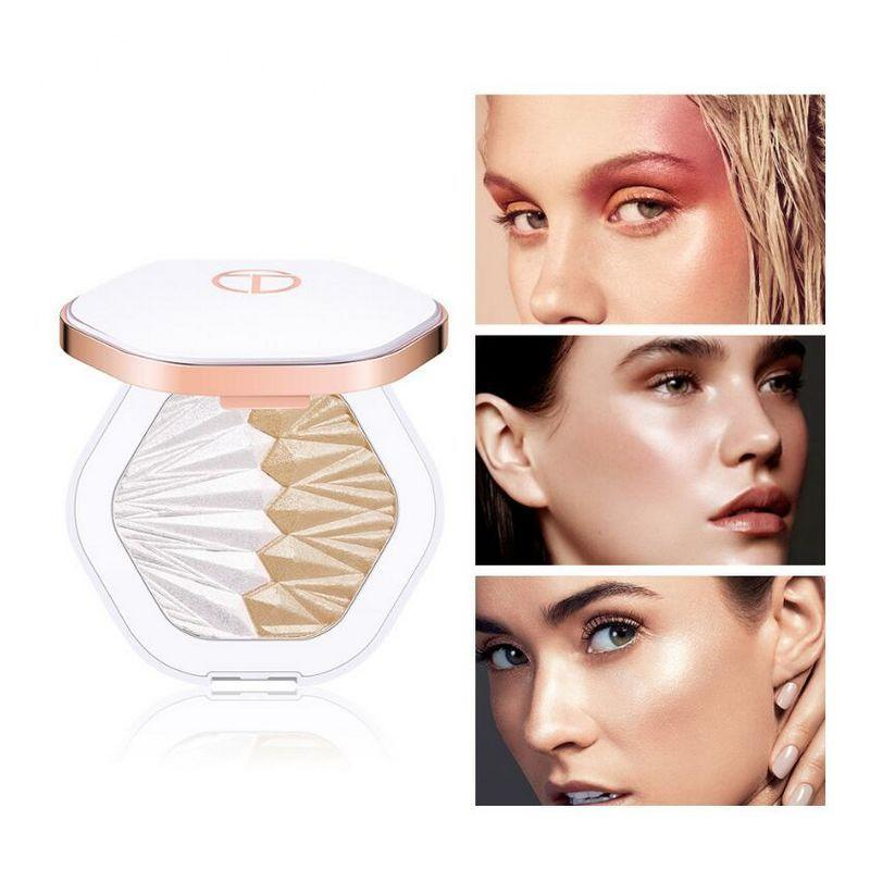 5 colors O.TWO.O Shell Highlighter Powder Palette Pearl White Pink Purple Shimmer Face Illuminator Contouring Glowing Makeup 50pcs/lot DHL