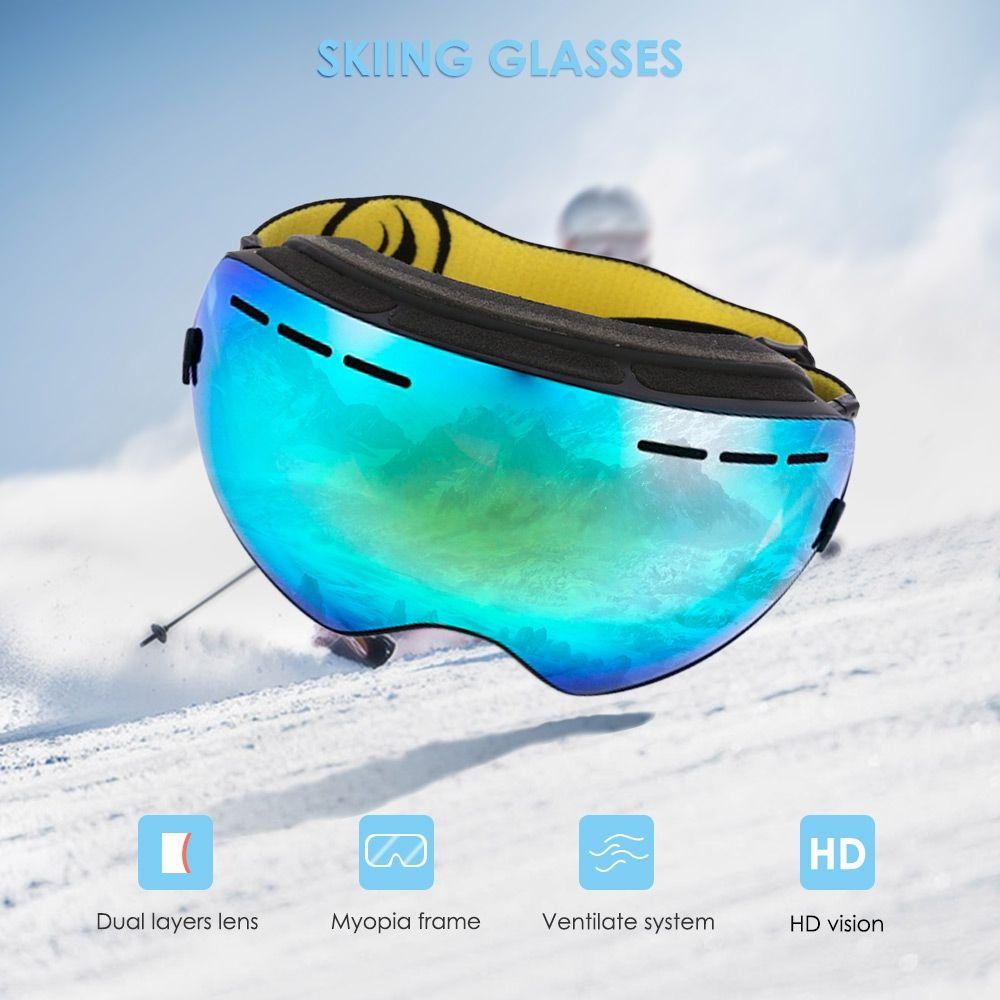 dd990892bcbe 2019 Professional Goggles Ski Women Men Double Lens UV400 Anti Fog Adult Snowboard  Skiing Snow Eyewear Glasses From Sport 11