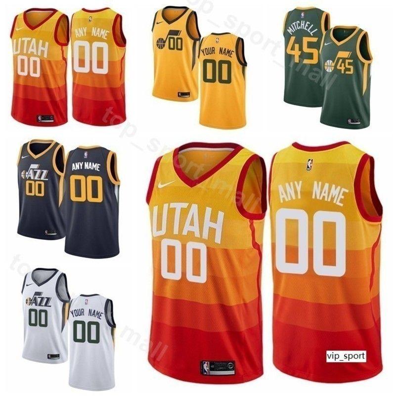 sale retailer db1b0 70435 Men Youth Women Print Basketball Rudy Gobert Jersey Edition City Earned  Donovan Mitchell Ricky Rubio Joe Ingles Jae Crowder Shirts