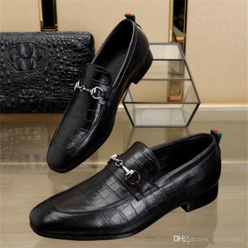 3e819c11873 2019 styles Man pointed toe dress shoe Italian designer mens dress shoes  genuine leather black luxury wedding shoes men low heel shoes