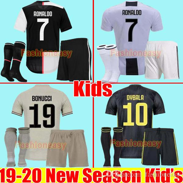on sale f5d3d 53559 NEW 19 20 RONALDO kids kit Juventus 2019 2020 soccer jersey DYBALA football  kit shirt Marchisio MANDZUKIC MATUIDI child boys uniforms