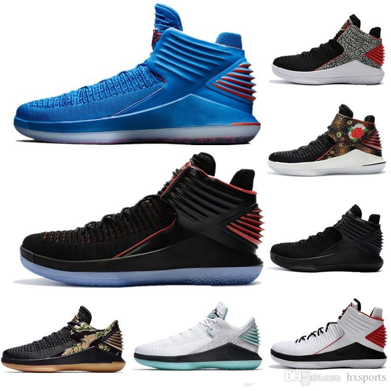 f6bc44f3c24 2019 Wholesale Jade 32 Top Hight Cut Mens Basketball Shoes New Black Bred  MVP Gatorade CNY Like Mike Sport Best Quality 32s Discount Sneakers From  Hxsports, ...