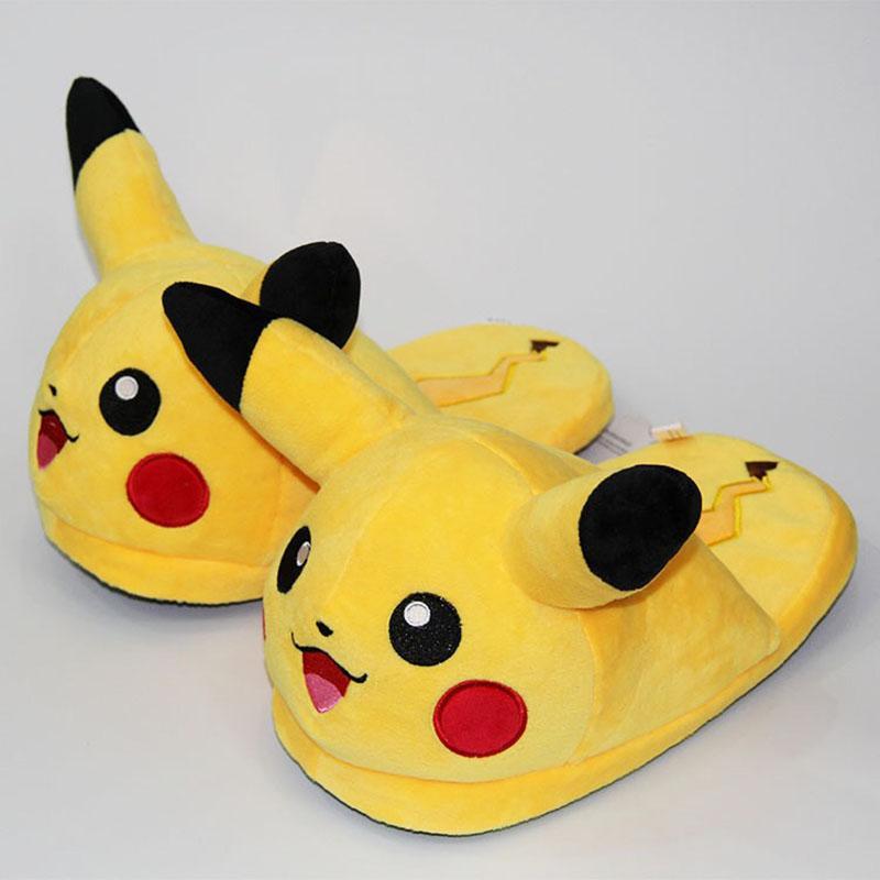 3a718051429c Unisex Anime Cartoon Pikachu Snorlax Eevee Gengar Dolls Slipper Home Cute  Warm Slippers Shoes Indoor Bedroom Slides Warm Plush Womens Shoes Desert  Boots ...