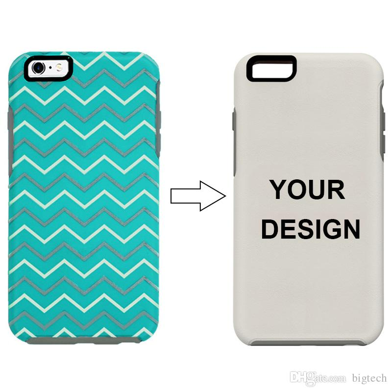 Custom 2 in 1 Phone Case Symmetry Defender Case Adding Your Logo UV Printing for iPhone 7 Xs Xr Samsung s10 s10 Plus