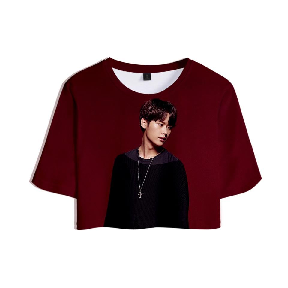 c4a88a836 Straykids 3D Printed Women Crop Tops Kpop Fashion Summer Short Sleeve  T-shirts 2019 Hot Sale Casual Trendy Girls Sexy Wear