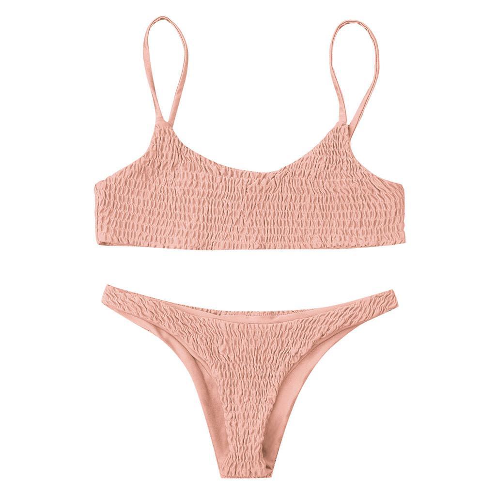 e1c3fa2bf67ea 2019 Bikini 2019 Sexy Women Soild Push Up Padded Bra Beach Bikini Set  Swimsuit Beachwear Swimwear Stroj Kapielowy Maillot De Bain From Zhongni,  ...
