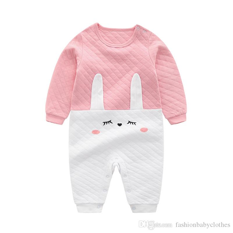 06d5280de341 2019 Baby Girl Romper Cute Newborn Clothes Cotton 0 12M Toddler Infant  Clothing Cartoon New Born Baby Girls Rompers Jumpsuit Carters Bodysuit From  Anon2