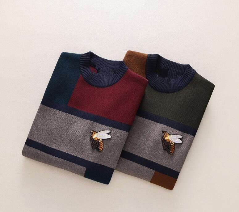 97bf1441d Marca carta bordado prendas de punto de invierno ropa para hombre suéter de  manga larga con cuello redondo para hombre diseñador de moda sudaderas ...