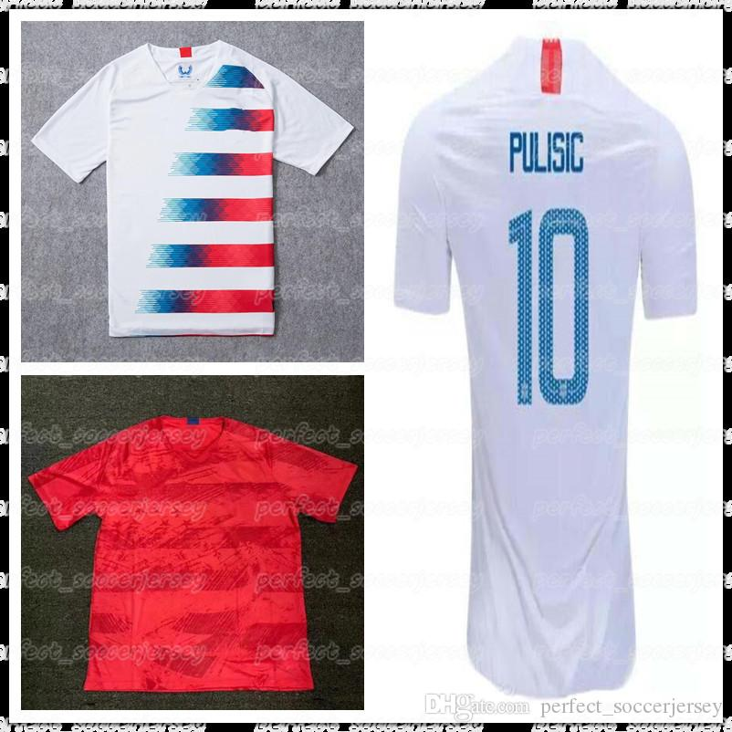 ad88372e5 2018 2019 USA PULISIC Soccer Jerseys Player Version YEDLIN 2 BRADLEY ...